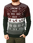 Ugly Christmas Sweater Men's Snows Out Pullover Sweater