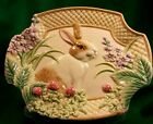 FITZ And FLOYD Botanical Bunny Canape Plate 10-1/8