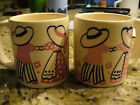 Set of Two Small Vintage Waechtersbach West Germany Cups-Mugs W/ Children Rare