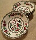 Johnson Brothers INDIAN TREE Set of 6 Small Bowls with Greek Green Key