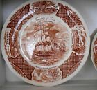 Four Alfred Meakin Staffordshire Fair WInds ships dinner plates