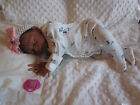 Life Like REBORN NEWBORN Biracial BABY Girl DOLL with PACIFIER  Beating Heart