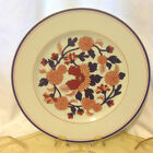 FITZ & FLOYD DINNER PLATE MANDARIN GARDEN ORANGE BLUE FLOWERS VINTAGE 1975  EC