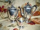 William Rogers Evandale Silverplated Coffee and Tea Urns with Creamer