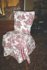 Waverly Garden Room -Dining Chair Cover -Garden Toile Red French Country