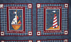 DAISY KINGDOM SAILOR BEAR  PILLOW PANELS    ONE SET     (2 SETS AVAILABLE)