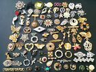 High Quality Vintage 90+ LOT Brooch Pin Rhinestone Cat Fruit Scatter Flower! T4