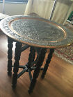 Beautiful Antique Persian Isfahan Hand Hammered Decorative Plate with Stand