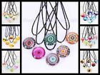 48 Double Sided Glass Fashion Necklaces Costume Jewelry Wholesale Lot Party Gift