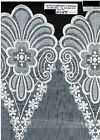 12 Vintage Embroidered Organza Lace Border Fabric Scalloped By Yard 2058