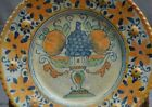 Authentic early 17th wonderful majolica plate with a polygrome decor fruit vase