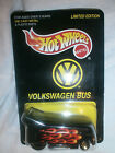 1997 Hot Wheels VW DRAG BUS - ALL TUNE AND LUBE - BLACK WITH FLAMES 1997 H6