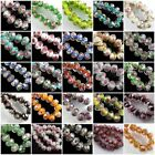 12mm Faceted Glass Crystal Rose Flower Inside Lampwork Beads Spacer Charms