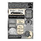 Scrapbooking Crafts Karen Foster Stickers One Magical Night Prom Homecoming Date