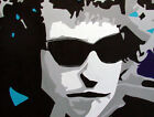 Bob Dylan Pop Art Painting by International Artist Rose Litsey, London, Paris