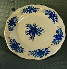 Deruta Porcelain 8.5 Blue/Peach Hand-painted Plate Italy/Italian Crackle Pottery