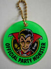 PARTY ZONE DRACULA Pinball Promo Plastic ELVIRA AND PARTY MONSTER Key Chain Fob