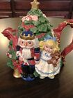 OLDER 1992 Fitz And Floyd NUTCRACKER Christmas Tree Teapot   37 OZ.