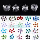 14mm Heart Butterfly Flower Faceted Crystal Glass Loose Hanging Pendants Beads