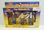 THE 3 THREE STOOGES BENDABLES BENDY ACTION FIGURE GIFT SET MIB UNUSED 1996 GORDY