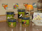 PROVENCE ROOSTER COLLECTION 4 Pc Set Barn Rooster CANISTERS Baum Bros Folk Art