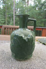 Vintage NEW HAMPSHIRE  MAPLE SYRUP GLAZED POTTERY JUG /CORK / 3/D MAPLE LEAF
