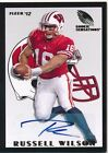2012 Fleer Retro Russell Wilson RC Rookie Autograph Seahawks Card #RS-23