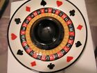 FITZ & FLOYD GAME NIGHT CHIP & DIP SERVER PLATTER POKER BOWL DISH PLATE NIB