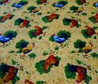 Rooster Fabric Mustard Color Cotton French Country Chicken Provence 1yd 34 in.