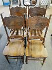 Four Pressed Back Chairs Lot 382