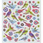 Scrapbooking Crafts Stickers Sticker King Birds Flowers Glitter Parrot Purple