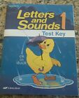 Abeka 1st Grade Letters and Sounds 1 test key