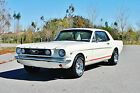 Ford Mustang GT Coupe 4 Speed 289 V8 Factory A C Show Ready 1966 ford mustang gt 289 v 8 4 speed factory a c beautiful rare white on white