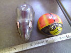 Vintage Lot of 2 Tin  Mouse and Lady Bug Friction Moving toys