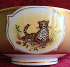 RARE DISCONTINUED COLLECTIBLE  Lynn Chase GOLDEN CHEETAH  Serving Bowl 9.25