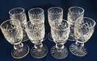 8 Waterford Crystal AVOCA / DONEGAL Sherry / Cordial Glasses 3 1/2 inches Tall
