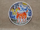 Signed DESIMONE, Italy Pottery Bowl, Goat Design Hand Painted