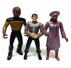Vintage STAR TREK TNG NEXT GENERATION action figure toy lot by Playmates