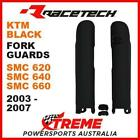Rtech KTM SMC 620 640 660 Super Moto 2003-2007 Black Fork Guards Protectors