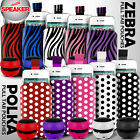 LEATHER POLKA  ZEBRA PULL TAB CASE POUCH+SPEAKER FOR VARIOUS T MOBILE PHONE