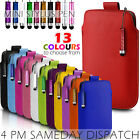 LEATHER PULL TAB SKIN CASE COVER POUCH+MINI STYLUS FOR VARIOUS T MOBILE PHONE