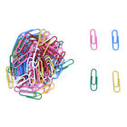 100Pcs Plastic Coated Paper Clips Color Assorted CP