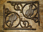 6 Cast Iron WESTERN Style BRONCO Brackets, Garden Braces COWBOY Shelf Bracket