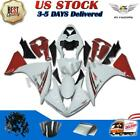 Glossy White Red Injection Plastic Fairing Fit for Yamaha 2009-2011 YZF R1 d25