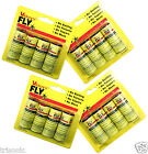 16 INSECT BUG FLY GLUE PAPER CATCHER TRAP RIBBON TAPE STRIP STICKY FLIES ROLLS