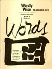 NEW Wordly Wise Teachers Key Book 9 by Kenneth Hodkinson