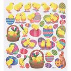 Scrapbooking Crafts Stickers Easter Chicks Eggs Bunny Baskets Colorful Flowers