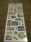 Scrapbooking Crafts Stickers FIT 13 World Wide Web Phrases Chat Shop WWW Email