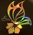 Butterfly Hibiscus Flower Rainbow Holographic Vinyl Decal Sticker Laptop 16 09