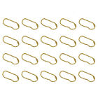 20Pcs Ball Chain Connector Scrapbooking Key Chains Jewelry Making Gold 10cm